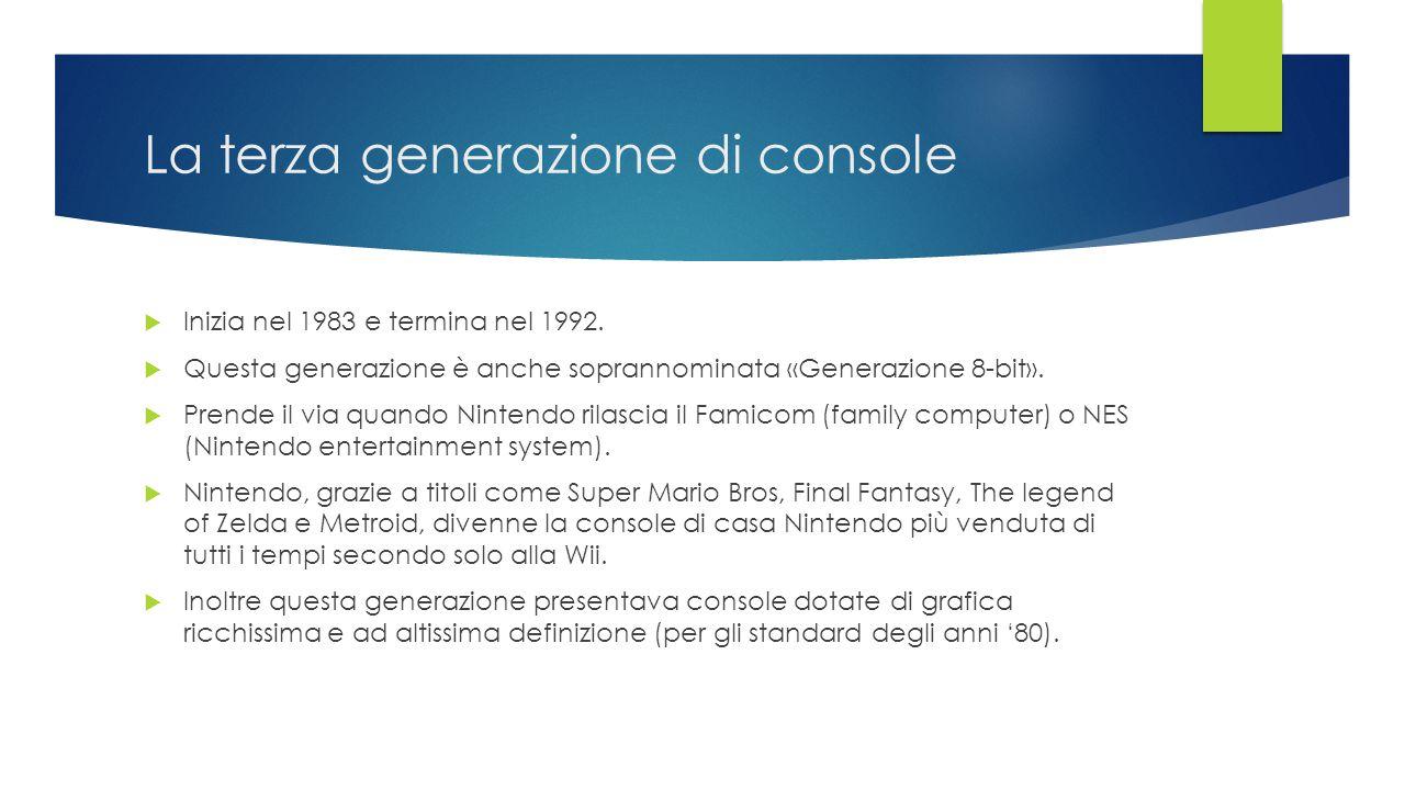 La terza generazione di console
