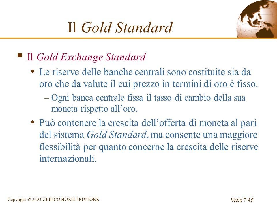 Il Gold Standard Il Gold Exchange Standard