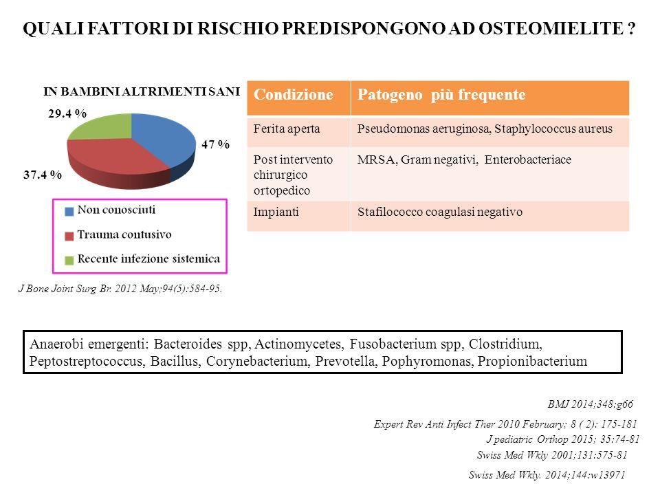 QUALI FATTORI DI RISCHIO PREDISPONGONO AD OSTEOMIELITE