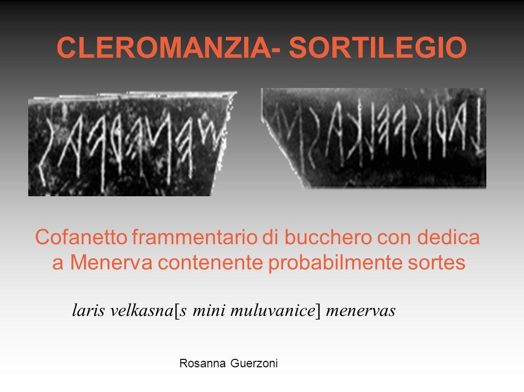 CLEROMANZIA- SORTILEGIO
