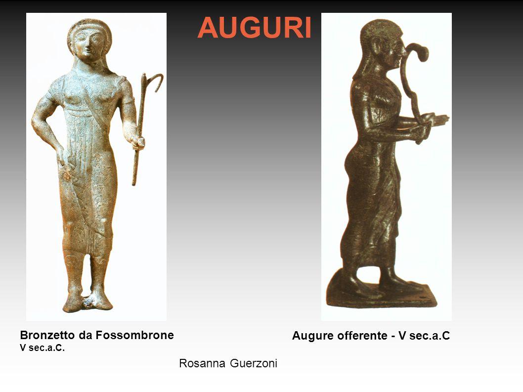 AUGURI Bronzetto da Fossombrone Augure offerente - V sec.a.C