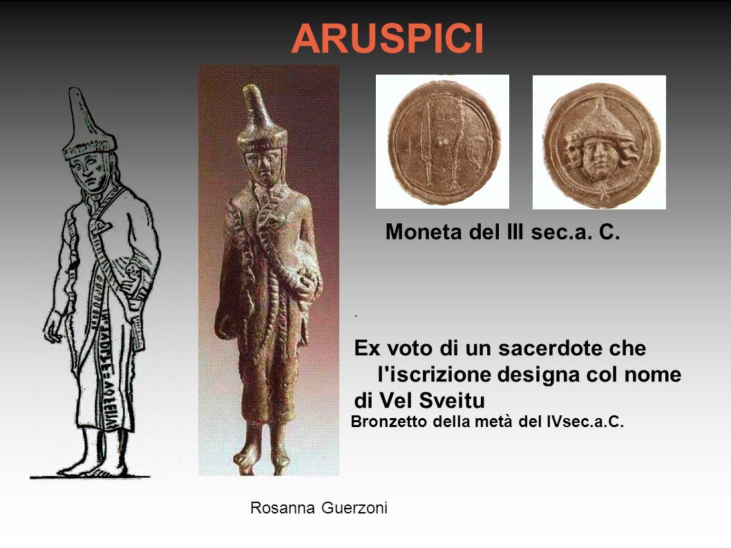 ARUSPICI Moneta del III sec.a. C.