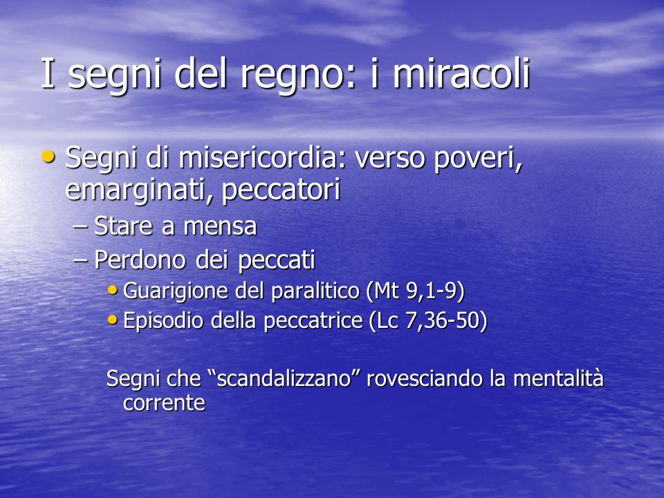 I segni del regno: i miracoli