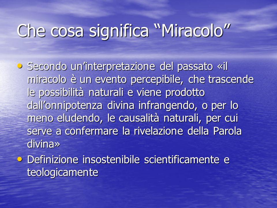 Che cosa significa Miracolo