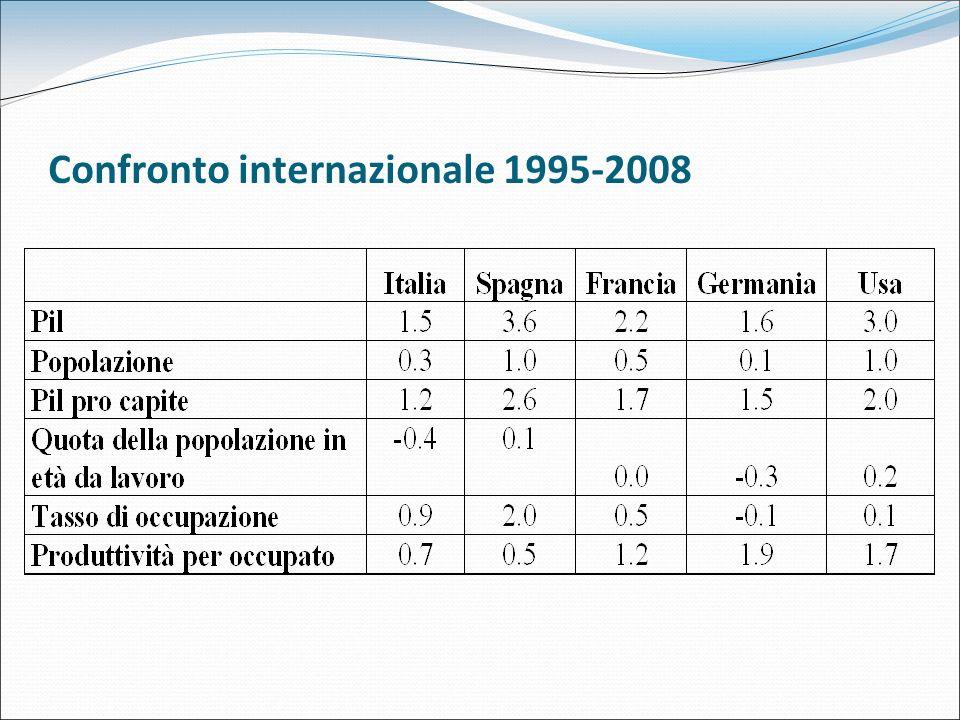 Confronto internazionale 1995-2008