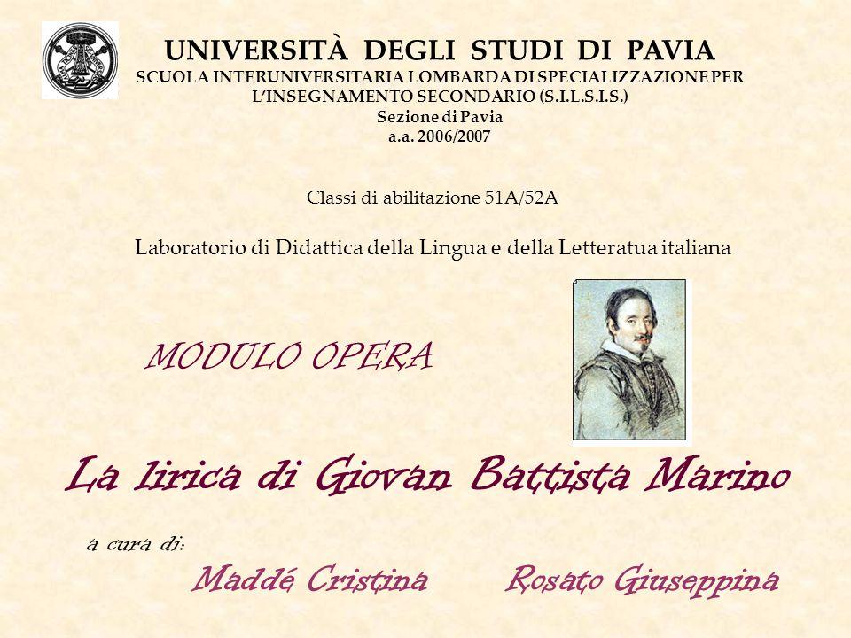 La lirica di Giovan Battista Marino