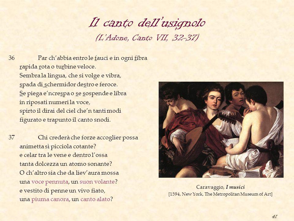 Il canto dell'usignolo (L'Adone, Canto VII, 32-37)