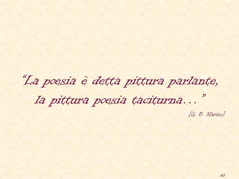 La poesia è detta pittura parlante, la pittura poesia taciturna…