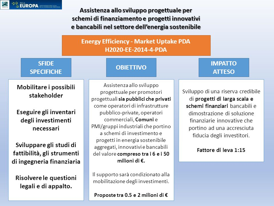 Energy Efficiency - Market Uptake PDA H2020-EE-2014-4-PDA