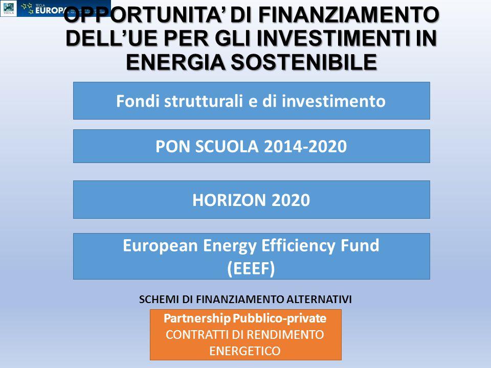 OPPORTUNITA' DI FINANZIAMENTO DELL'UE PER GLI INVESTIMENTI IN ENERGIA SOSTENIBILE