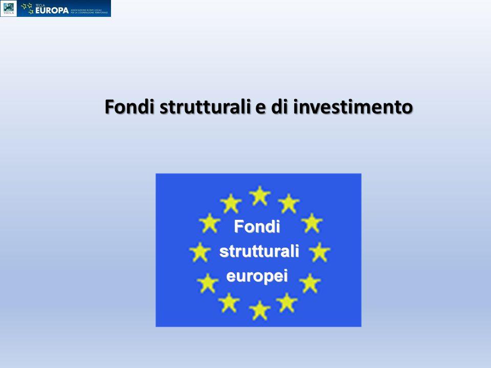 Fondi strutturali e di investimento
