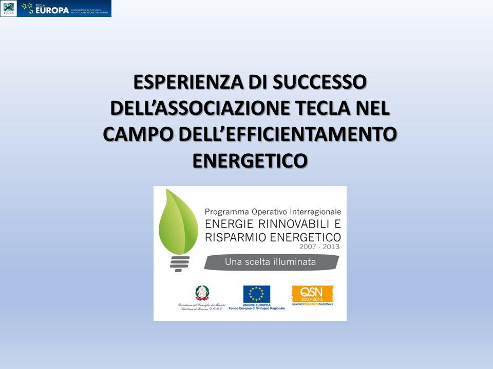 ESPERIENZA DI SUCCESSO DELL'ASSOCIAZIONE TECLA NEL CAMPO DELL'EFFICIENTAMENTO ENERGETICO