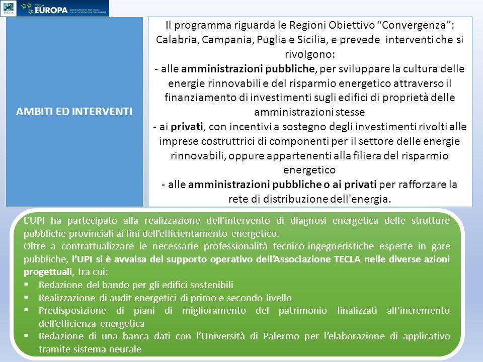 AMBITI ED INTERVENTI