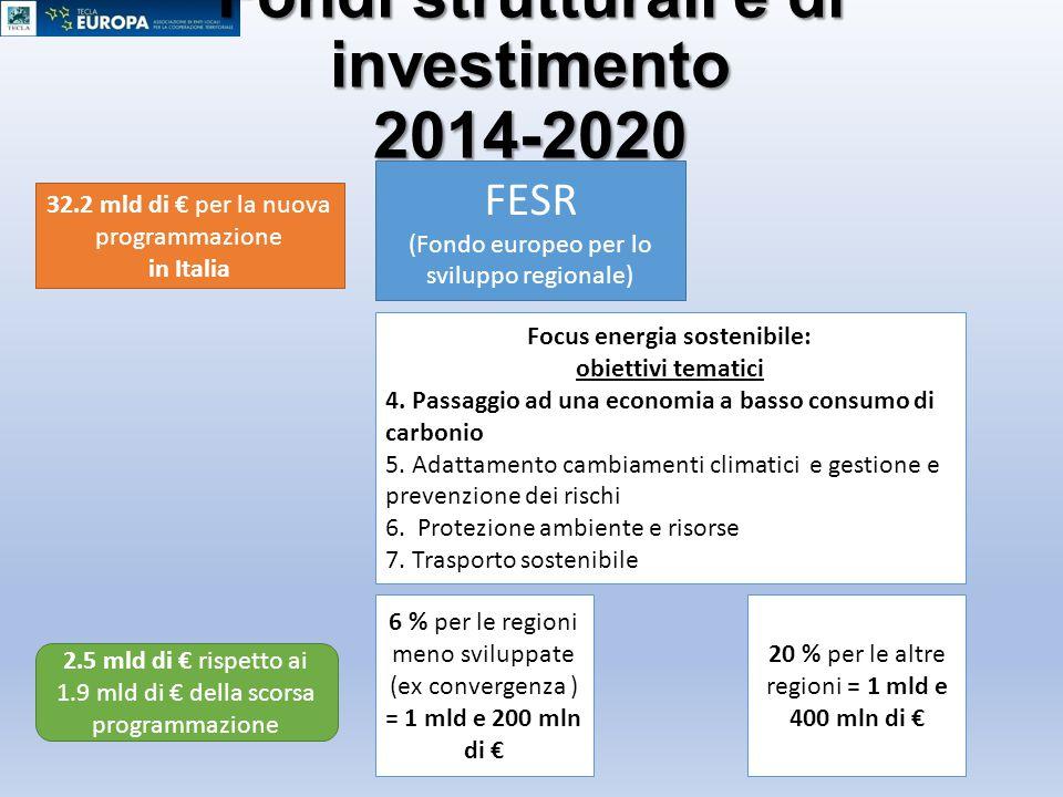 Fondi strutturali e di investimento 2014-2020