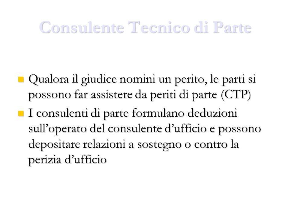 Consulente Tecnico di Parte