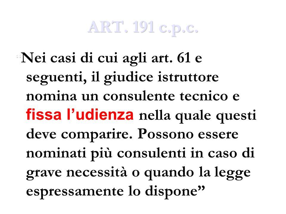 ART. 191 c.p.c.