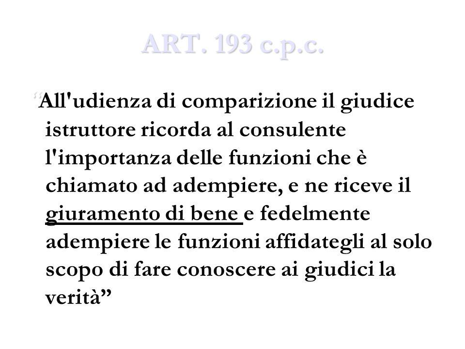 ART. 193 c.p.c.