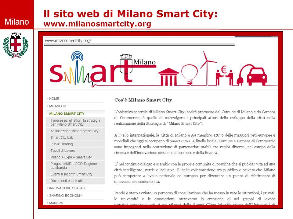 ll sito web di Milano Smart City: www.milanosmartcity.org