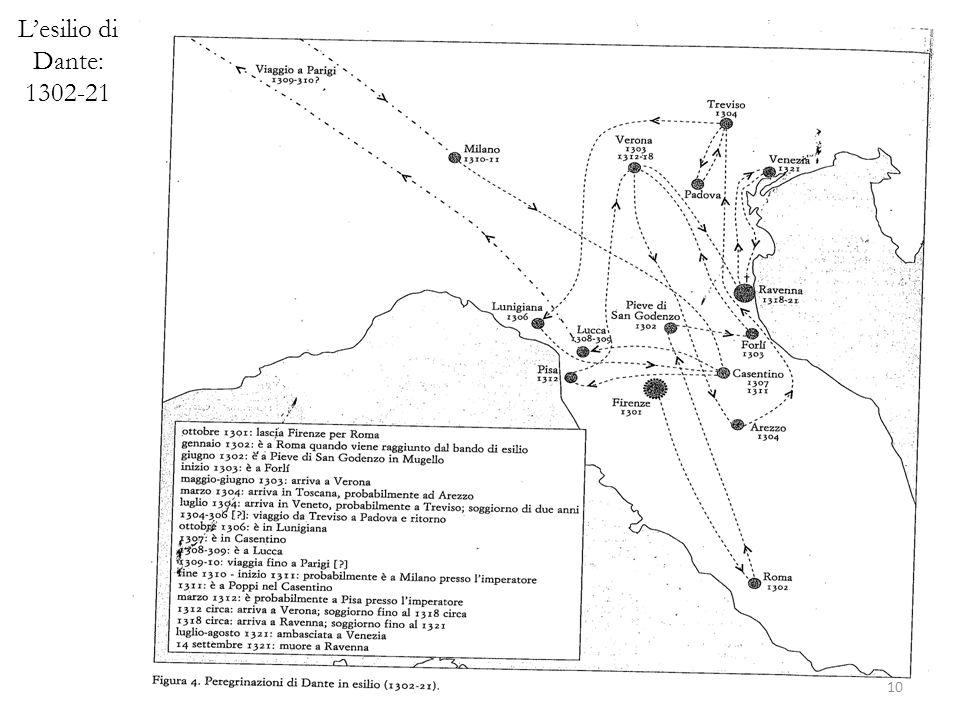 L'esilio di Dante: 1302-21
