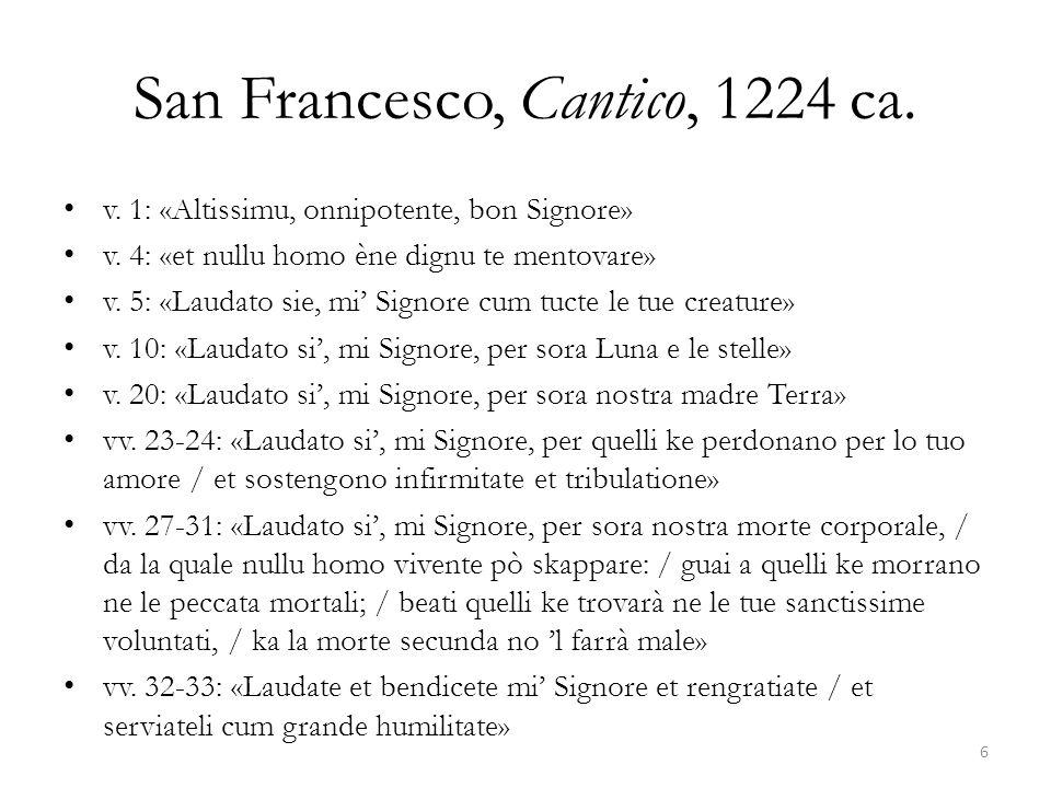 San Francesco, Cantico, 1224 ca.