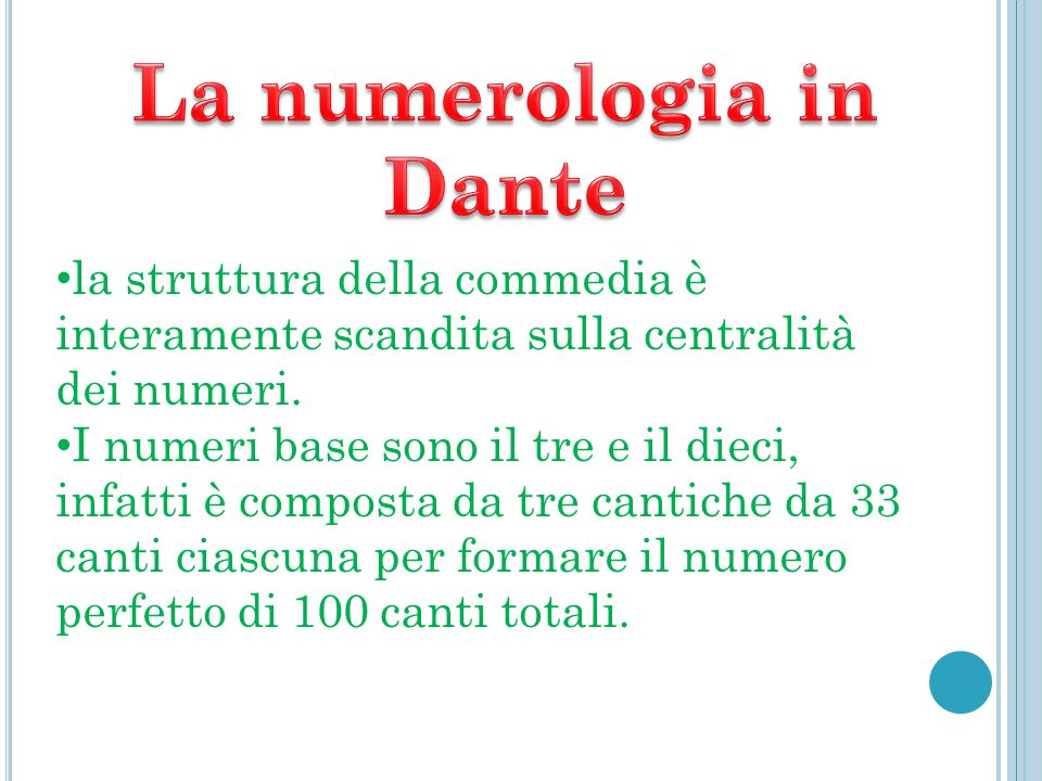 La numerologia in Dante