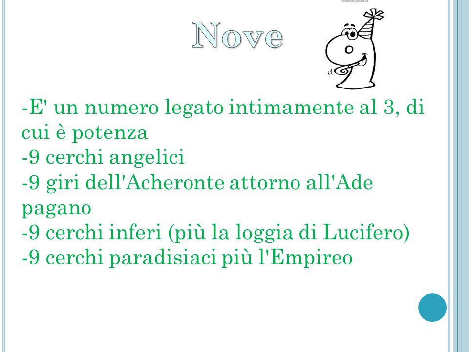 Nove -E un numero legato intimamente al 3, di cui è potenza