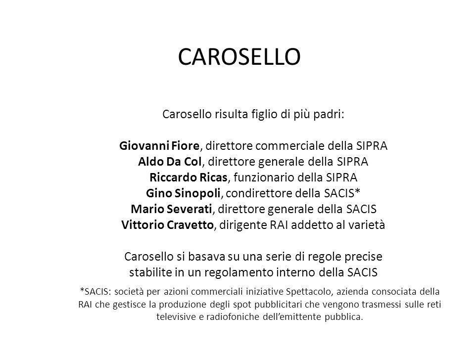 CAROSELLO Carosello risulta figlio di più padri: