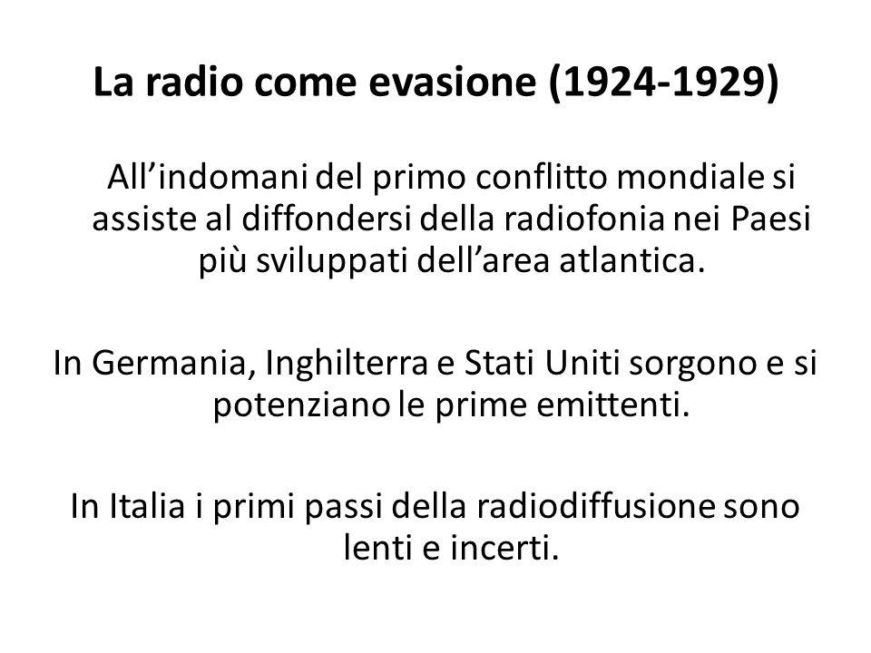 La radio come evasione (1924-1929)