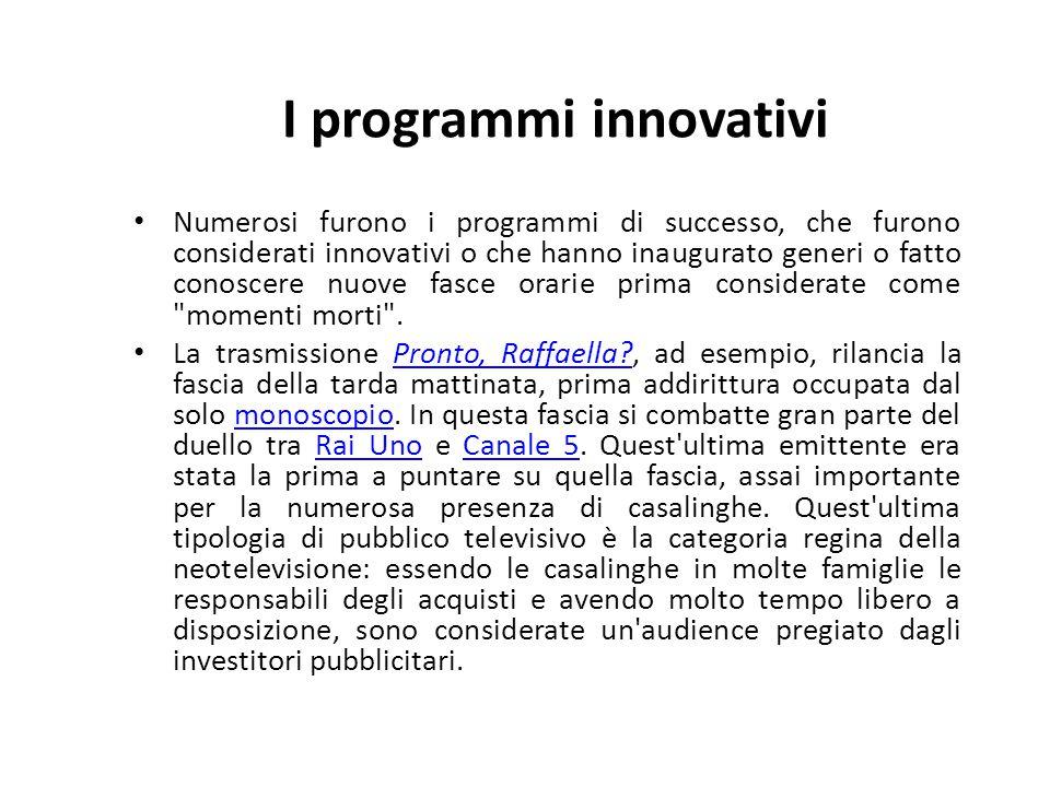 I programmi innovativi