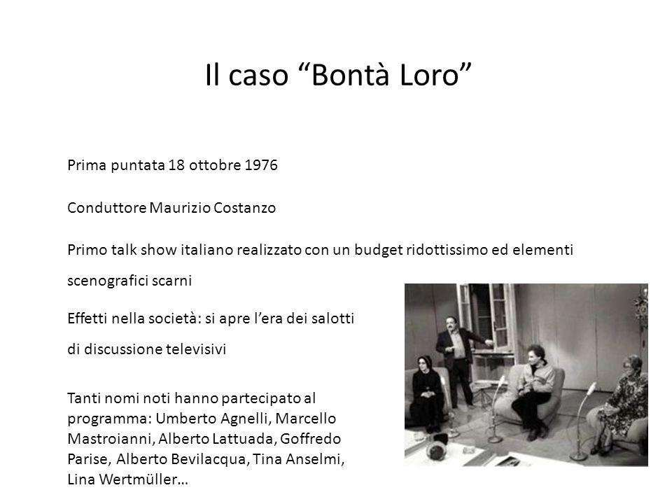 Il caso Bontà Loro Prima puntata 18 ottobre 1976