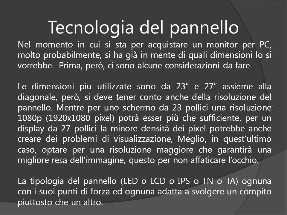 Tecnologia del pannello