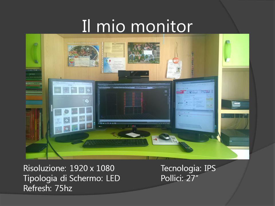 Il mio monitor Risoluzione: 1920 x 1080 Tecnologia: IPS