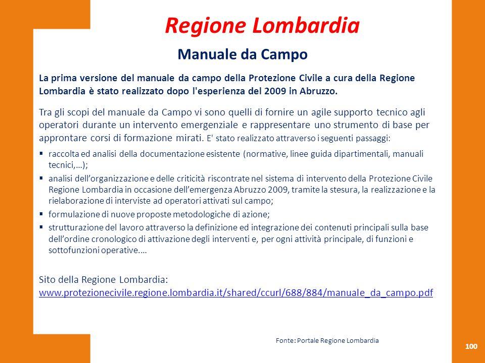 Regione Lombardia Manuale da Campo
