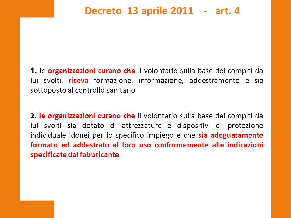Decreto 13 aprile 2011 - art. 4
