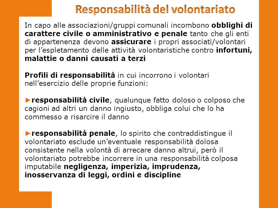 Responsabilità del volontariato