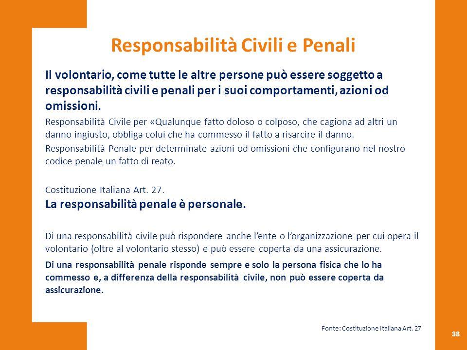 Responsabilità Civili e Penali