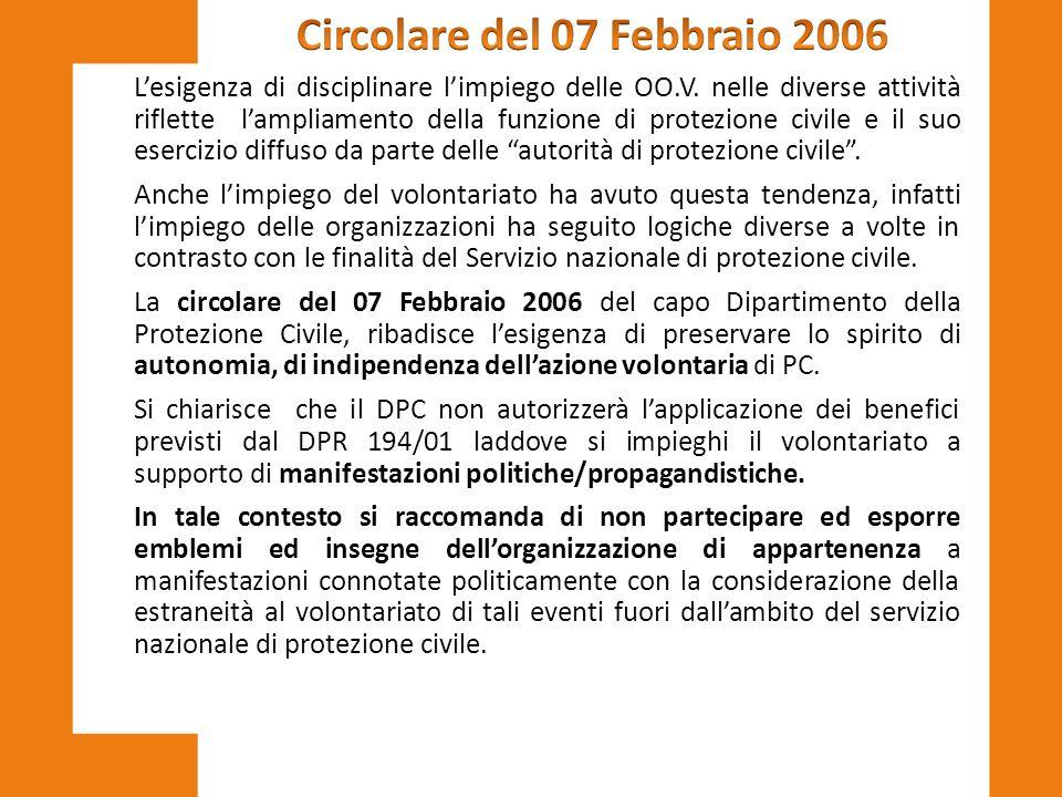 Circolare del 07 Febbraio 2006