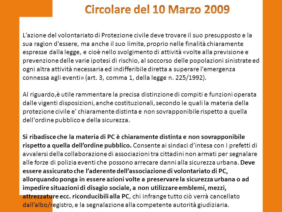 Circolare del 10 Marzo 2009