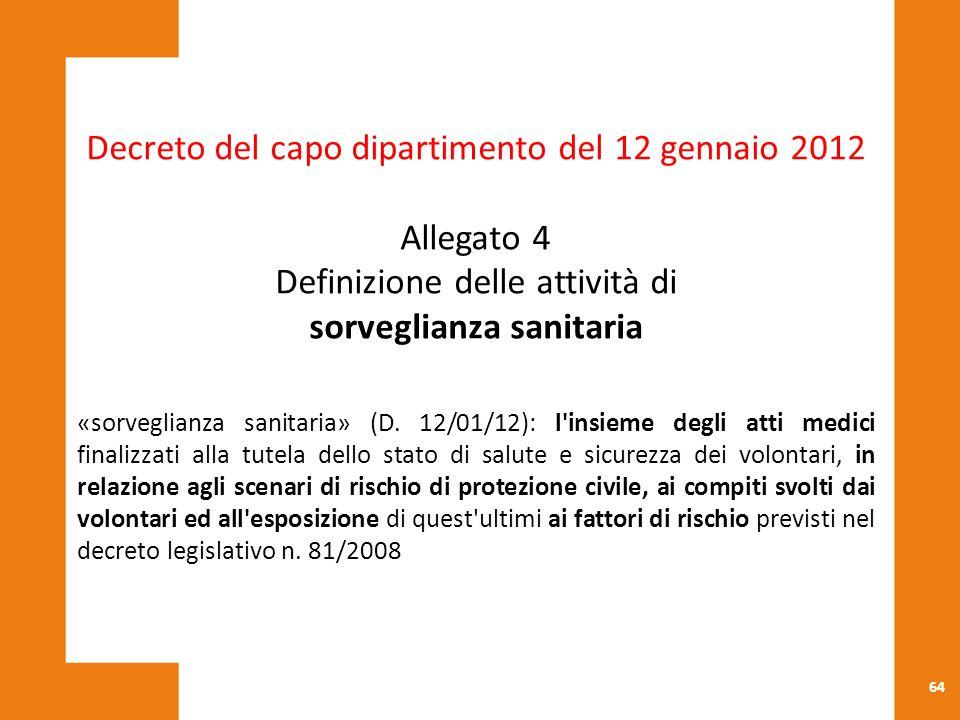 Decreto del capo dipartimento del 12 gennaio 2012 Allegato 4