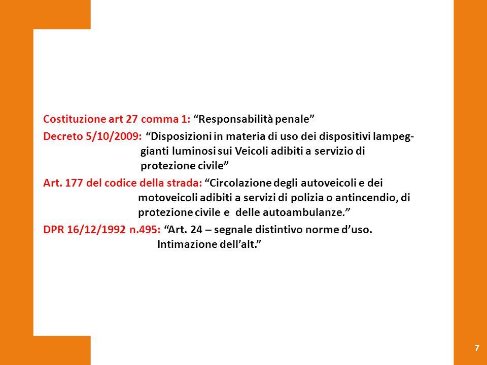 Costituzione art 27 comma 1: Responsabilità penale