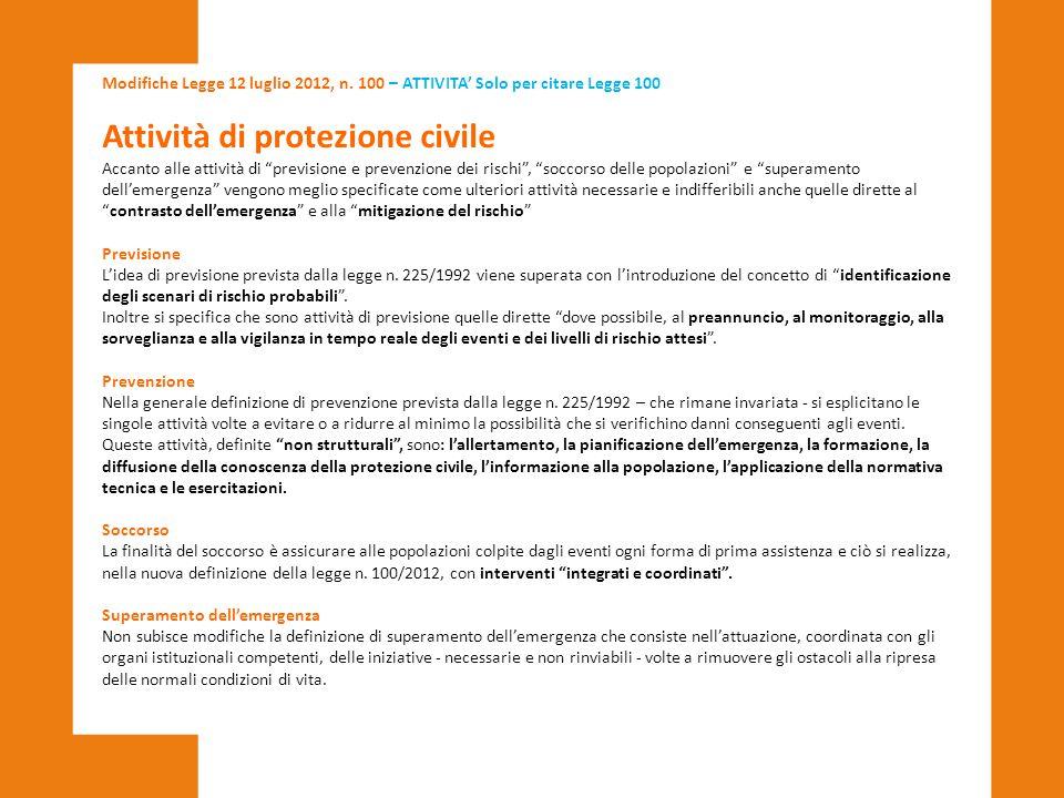 Attività di protezione civile