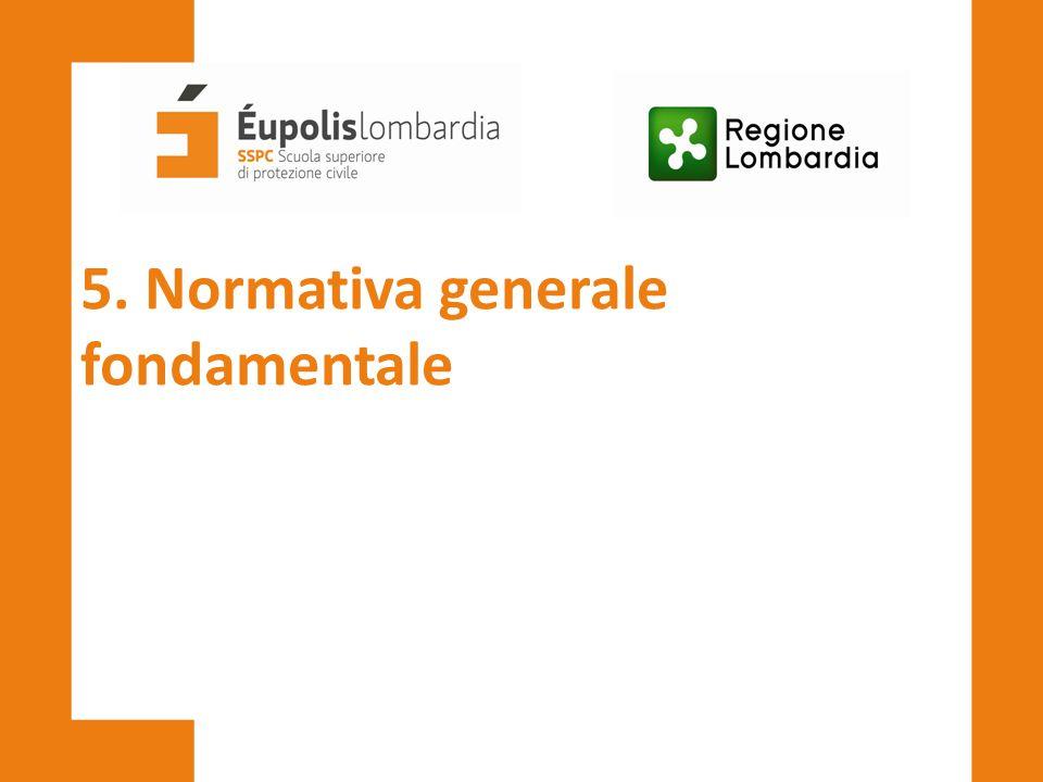 5. Normativa generale fondamentale