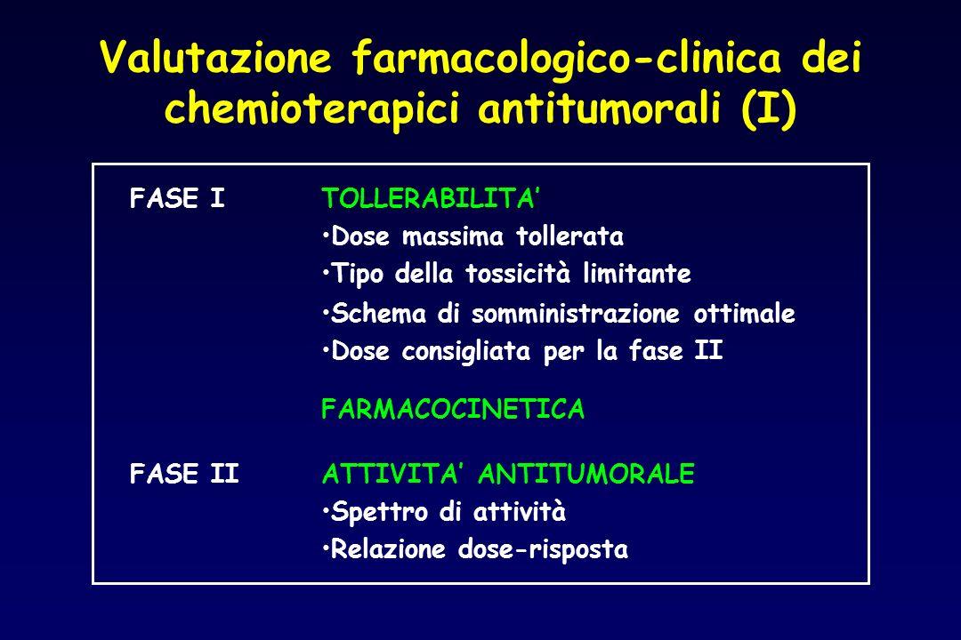 Valutazione farmacologico-clinica dei chemioterapici antitumorali (I)