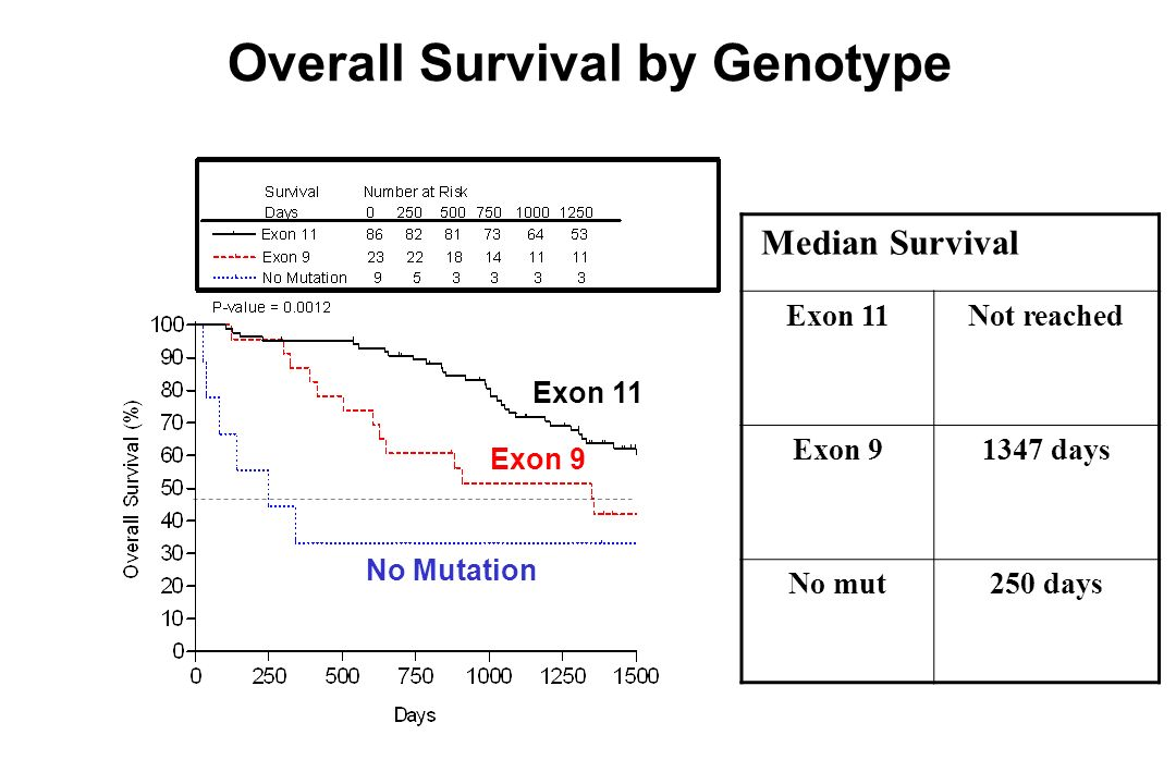 Overall Survival by Genotype
