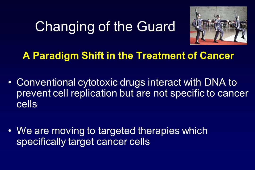 A Paradigm Shift in the Treatment of Cancer