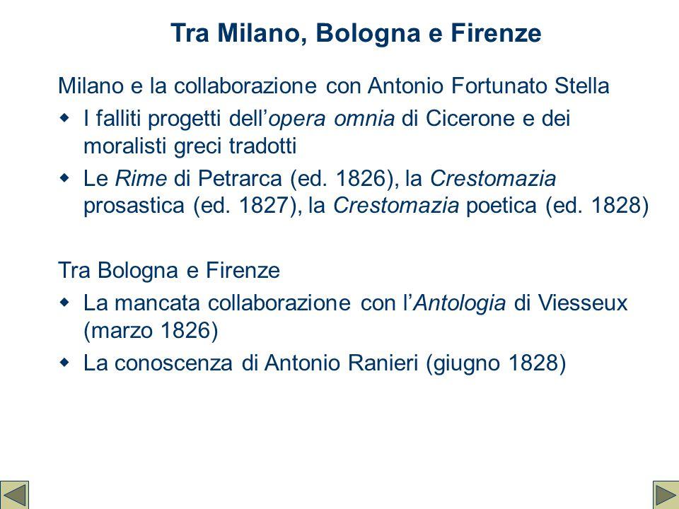 Tra Milano, Bologna e Firenze