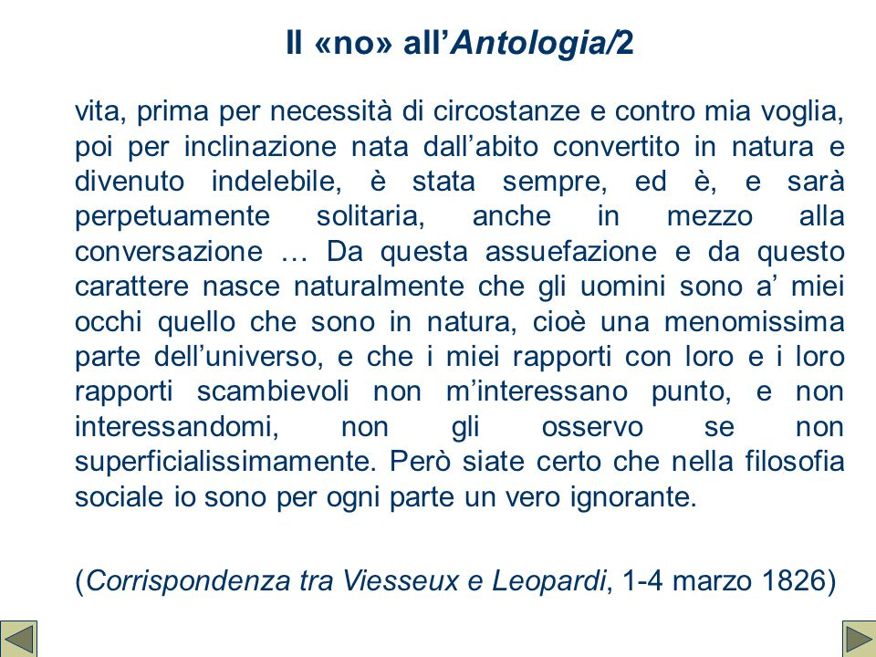 Il «no» all'Antologia/2