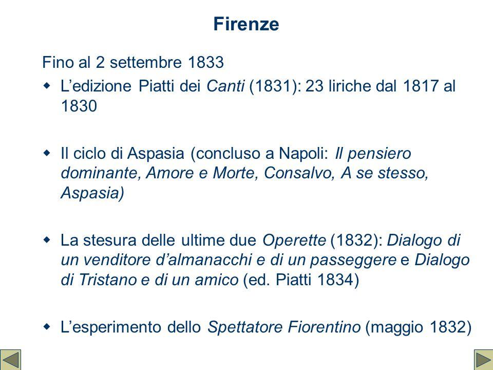 Firenze Fino al 2 settembre 1833