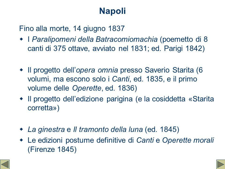 Napoli Fino alla morte, 14 giugno 1837