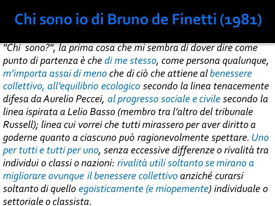 Chi sono io di Bruno de Finetti (1981)